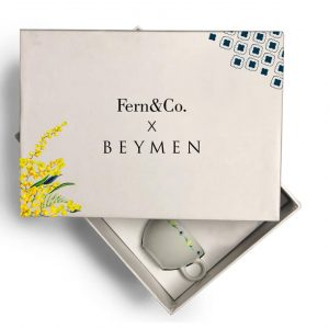 Fern&Co. x Beymen Mimosa Collection 2'li Porselen Türk Kahvesi Fincanı